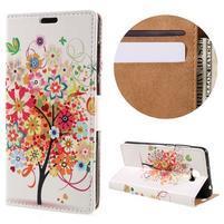 Emotive peněženkové pouzdro na Huawei Y6 II Compact - květinový strom