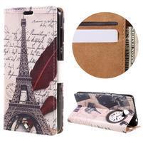 Emotive peněženkové pouzdro na Huawei Y6 II Compact - Eiffelova věž