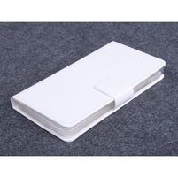 Bílé PU kožené peněženkové pouzdro na Huawei Ascend G620s