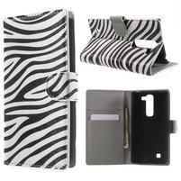 Pěněženkové pouzdro na LG G4c H525n - zebra
