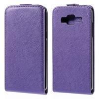 Flipové pouzdro na Samsung Galaxy J5 - fialové