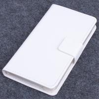 Koženkové pouzdro na mobil Lenovo A536 - bílé