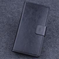 Koženkové pouzdro na mobil Lenovo A536 - černé
