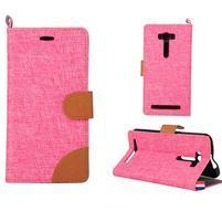 Jeans pouzdro na mobil Asus Zenfone 2 Laser - růžové