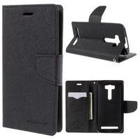Diary štýlové puzdro pre Asus Zenfone 2 Laser - čierne