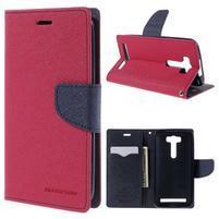 Diary stylové pouzdro na Asus Zenfone 2 Laser - rose