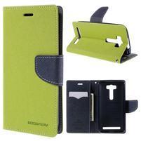 Diary stylové pouzdro na Asus Zenfone 2 Laser - zelené