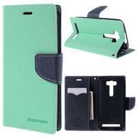Diary stylové pouzdro na Asus Zenfone 2 Laser - azurové