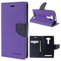 Diary stylové pouzdro na Asus Zenfone 2 Laser - fialové