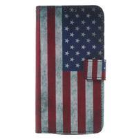 Koženkové pouzdro na Asus Zenfone 2 Laser - US vlajka