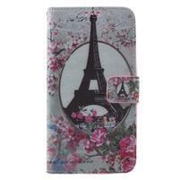 Koženkové pouzdro na Asus Zenfone 2 500KL Laser - Eiffelova věž