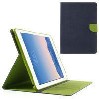 Diary peněženkové pouzdro na iPad Air - tmavěmodré