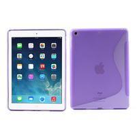 S-line gelový ochranný obal na iPad Air - fialový