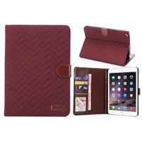 Texture luxusní pouzdro na iPad Mini 3, iPad Mini 2 a iPad Mini - vínové