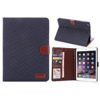 Texture luxusní pouzdro na iPad Mini 3, iPad Mini 2 a iPad Mini - modré