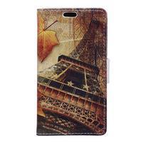Koženkové pouzdro na mobil Microsoft Lumia 640 - Eiffelova věž