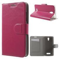 Horse peňaženkové puzdro pre Lenovo A2010 - rose