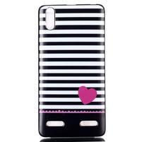 Jelly gelový obal na mobil Lenovo A6000 - srdce