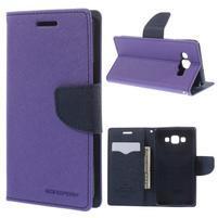 Mr. Fancy koženkové pouzdro na Samsung Galaxy A5 - fialové
