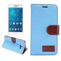 Jeans peněženkové pouzdro na Samsung Galaxy A5 - světlemodré
