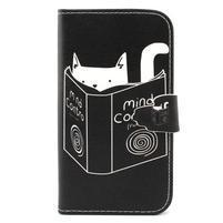 Peněženkové pouzdro na mobil Samsung Galaxy S3 - kočička s knihou
