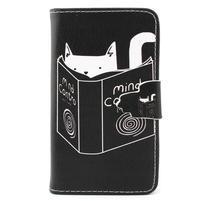 Fun peněženko pouzdro na Samsung Galaxy S3 mini - kočička čte