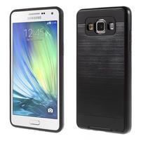 Hybridní gelové/plastové pouzdro na Samsung Galaxy A5 - černé