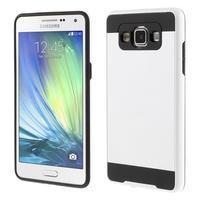 Hybridní gelové/plastové pouzdro na Samsung Galaxy A5 - bílé