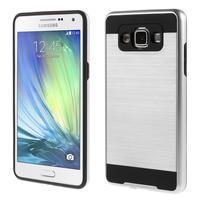 Hybridní gelové/plastové pouzdro na Samsung Galaxy A5 - stříbrné