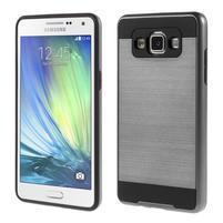 Hybridní gelové/plastové pouzdro na Samsung Galaxy A5 - šedé
