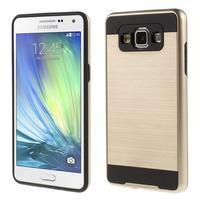 Hybridní gelové/plastové pouzdro na Samsung Galaxy A5 - zlaté