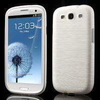 Brush gelový kryt na Samsung Galaxy S III / Galaxy S3 - bílý