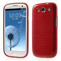 Brush gelový kryt na Samsung Galaxy S III / Galaxy S3 - červený