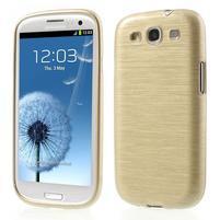 Brush gelový kryt na Samsung Galaxy S III / Galaxy S3 - zlatý
