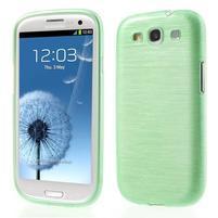 Brush gelový kryt na Samsung Galaxy S III / Galaxy S3 - zelený