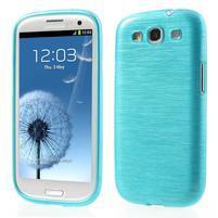 Brush gelový kryt na Samsung Galaxy S III / Galaxy S3 - modrý