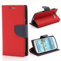 Mr. Fancy koženkové pouzdro na Samsung Galaxy S3 - červené
