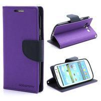 Mr. Fancy koženkové pouzdro na Samsung Galaxy S3 - fialové