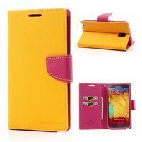 Goosp PU kožené pouzdro na Samsung Galaxy Note 3 - žluté