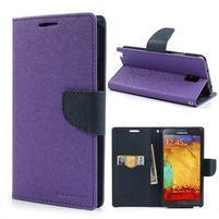 Goosp PU kožené pouzdro na Samsung Galaxy Note 3 - fialové