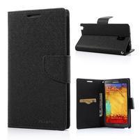 Goosp PU kožené pouzdro na Samsung Galaxy Note 3 - černé