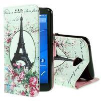 Koženkové pouzdro na mobil Sony Xperia E4 - Eiffelova věž