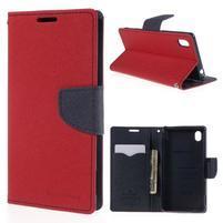 Ochranné pouzdro na Sony Xperia M4 Aqua - červené/tmavěmodré