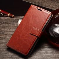 Koženkové pouzdro Sony Xperia M4 Aqua - hnědé