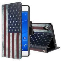 Styles pouzdro na mobil Sony Xperia Z3 - US vlajka