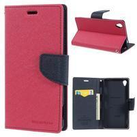 Peněženkové pouzdro na mobil Sony Xperia Z3 - rose