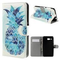 Nice koženkové pouzdro na mobil Acer Liquid Z520 - modrý ananas