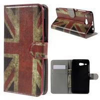 Nice koženkové pouzdro na mobil Acer Liquid Z520 - UK vlajka