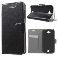 Horse peněženkové pouzdro na mobil Acer Liquid Z530 - černé
