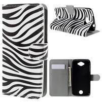 Valet peněženkové pouzdro na Acer Liquid Z530 - zebra